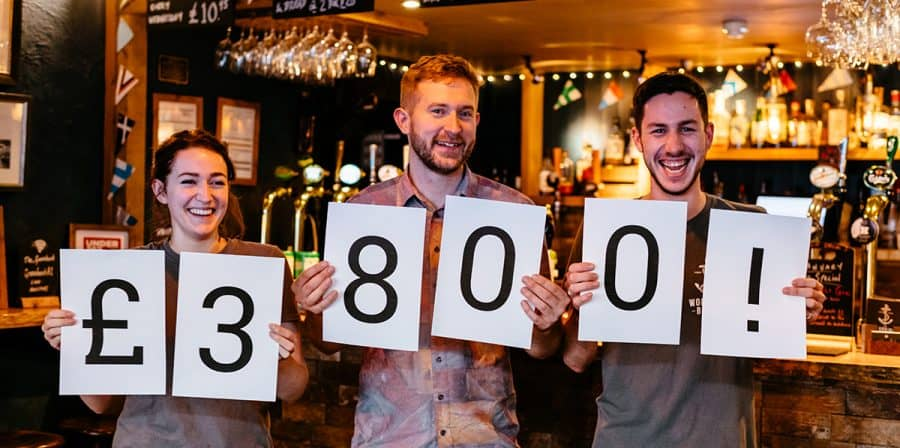 Nearly £4000 raised for charity thanks to pub quiz-goers