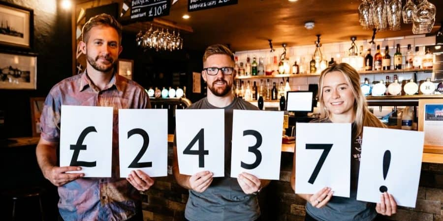 An incredible £2437 raised during our charity pub quizzes
