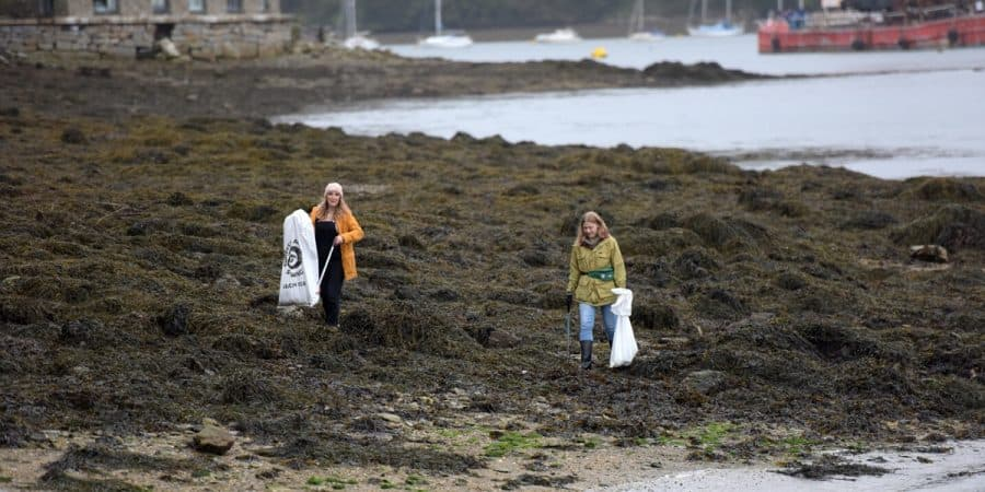 We did it again! Another fantastic beach clean in Falmouth